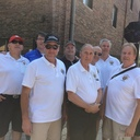 8-19-17 Members of the Knights of Columbus were on hand to greet guests at the St. Joseph's Bingo tent at Homewood's Block Party.